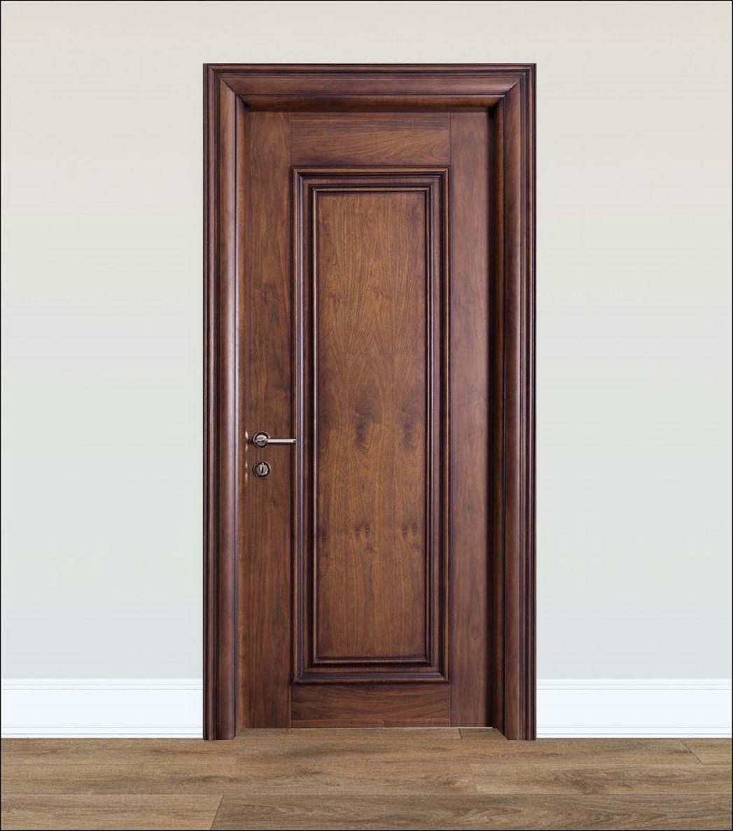 Doğal Ahşap Kaplamalı Kapı